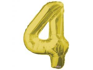 Číslice (86 cm) zlatá 4