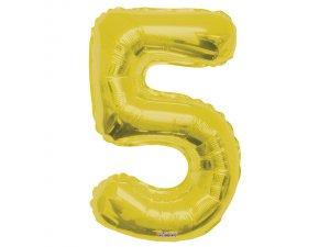 Číslice (86 cm) zlatá 5