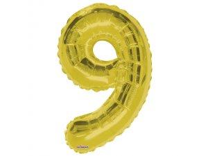 Číslice (86 cm) zlatá 9