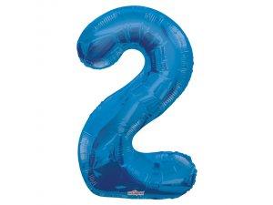 Číslice (86 cm) modrá 2