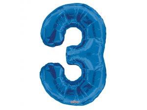 Číslice (86 cm) modrá 3