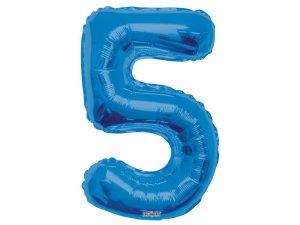 Číslice (86 cm) modrá 5