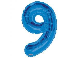 Číslice (86 cm) modrá 9