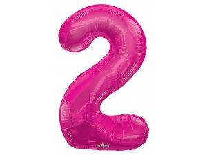 Číslice (86 cm) růžová 2