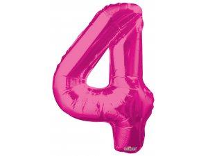 Číslice (86 cm) růžová 4
