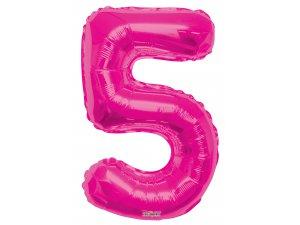 Číslice (86 cm) růžová 5