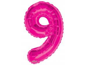 Číslice (86 cm) růžová 9