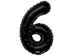 Číslice (86 cm) černá 6