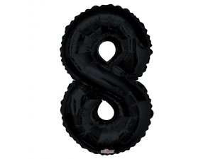 Číslice (86 cm) černá 8