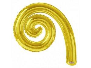 Kudrlina SPIRÁLA zlatá 35cm