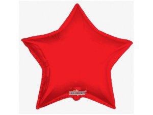 Hvězda 91cm - červená fóliový balónek