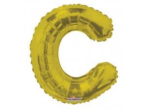Písmeno C zlaté malé 35 cm