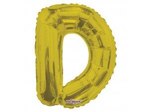 Písmeno D zlaté malé 35 cm