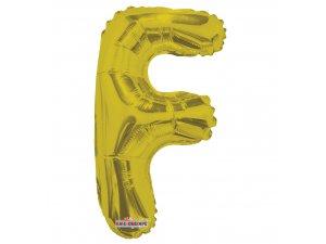 Písmeno F zlaté malé 35 cm