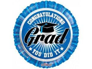Kruh 46cm Gratulace - modrá