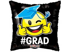 """Balónek polštář - #GRAD SMILEY 18"""""""