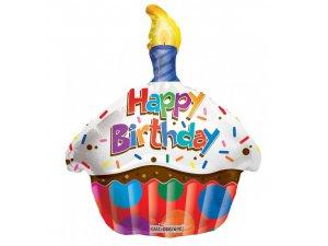 Balónek 46cm - CUPCAKE Happy Birthday