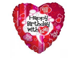 """Srdce 18"""" narozeniny s láskou"""