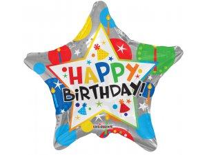 """Hvězda 18"""" narozeninová stříbrná"""
