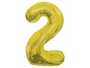 Číslice (86 cm) zlatá 2