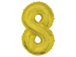 Číslice (86 cm) zlatá 8