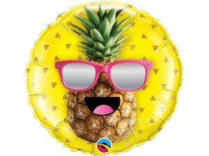 "18"" foliový balónek kruh - pan COOL Ananas"