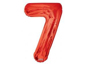 Číslice (86 cm) červená 7