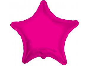 Hvězda 46cm - růžová fóliový balónek