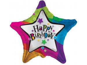 Hvězda 46cm - Hvězdy HAPPY BIRTHDAY