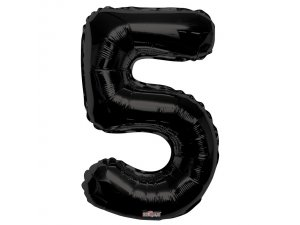 Číslice (86 cm) černá 5