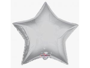 Hvězda 91cm - stříbrná fóliový balónek