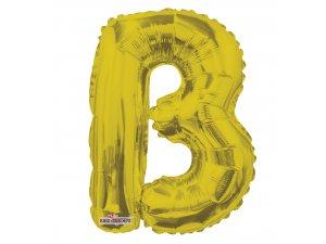 Písmeno B zlaté malé 35 cm