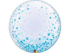 """24"""" DECO bublina - konfety modré"""