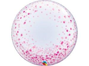 """24"""" DECO bublina - konfety růžové"""