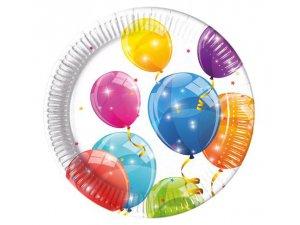 """Talířky papírové ,,Veselé balónky"""" 23cm, 8ks"""