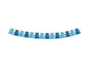 Girlanda papírová - Medvídek modrý