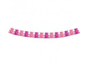Girlanda papírová - Medvídek růžový 360x17,8x18cm