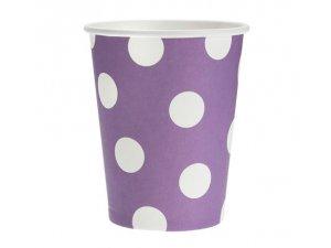 Kelímek papírový fialový 6ks