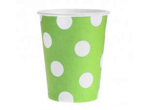 Kelímek papírový zelený 6ks