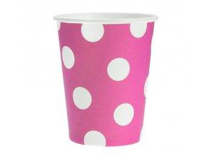 Kelímky papírové růžový 6ks