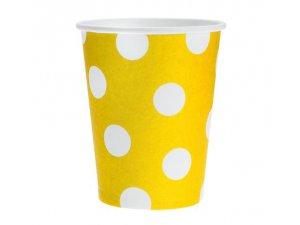 Kelímky papírové žlutý 6ks