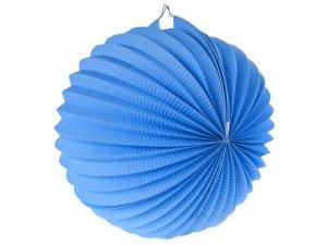 """Lampion dekorační ,,koule"""" modrá"""