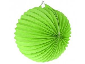 """Lampion dekorační ,,koule"""" zelená"""