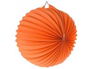 """Lampion dekorační ,,koule"""" oranžová"""
