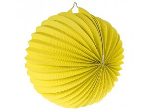 "Lampion dekorační ,,koule"" žlutá"