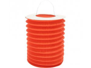 """Lampion dekorační ,,válec"""" oranžový"""