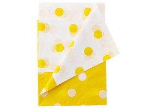 Ubrus plastový s puntíky - žlutý