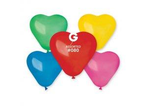 Balónek srdce 16 cm party mix (100ks/bal)