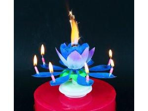 """Fontána na dort ,,tančící-hrající"""" modrá"""