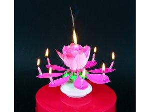 """Fontána na dort ,,tančící-hrající"""" růžová"""